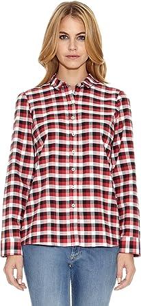 El Ganso Camisa Fredy Cuadros Vichy Negro/Rojo/Blanco ES 44 ...