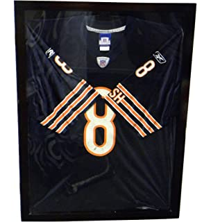 100 uv protection baseball football jersey frame display case shadow box black p312b