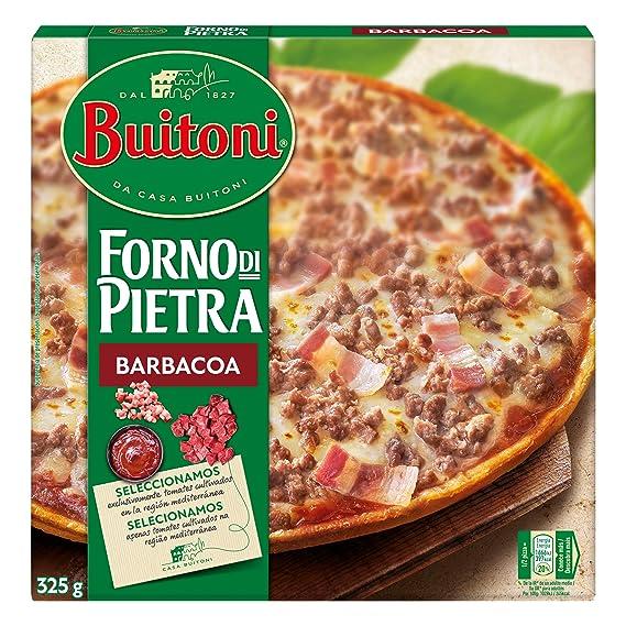 Buitoni Forno di Pietra Barbacoa - Pizza Congelada con carne y bacon y salsa barbacoa -