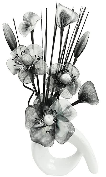 Flourish 793548 32 Cm Mini Swirl Vase With Artificial Flower