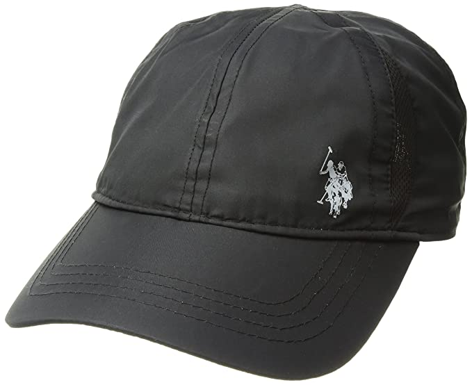 7339da93d US Polo Assn. Men's Nylon Mesh Baseball Cap, Gel Print Log, Adjustable