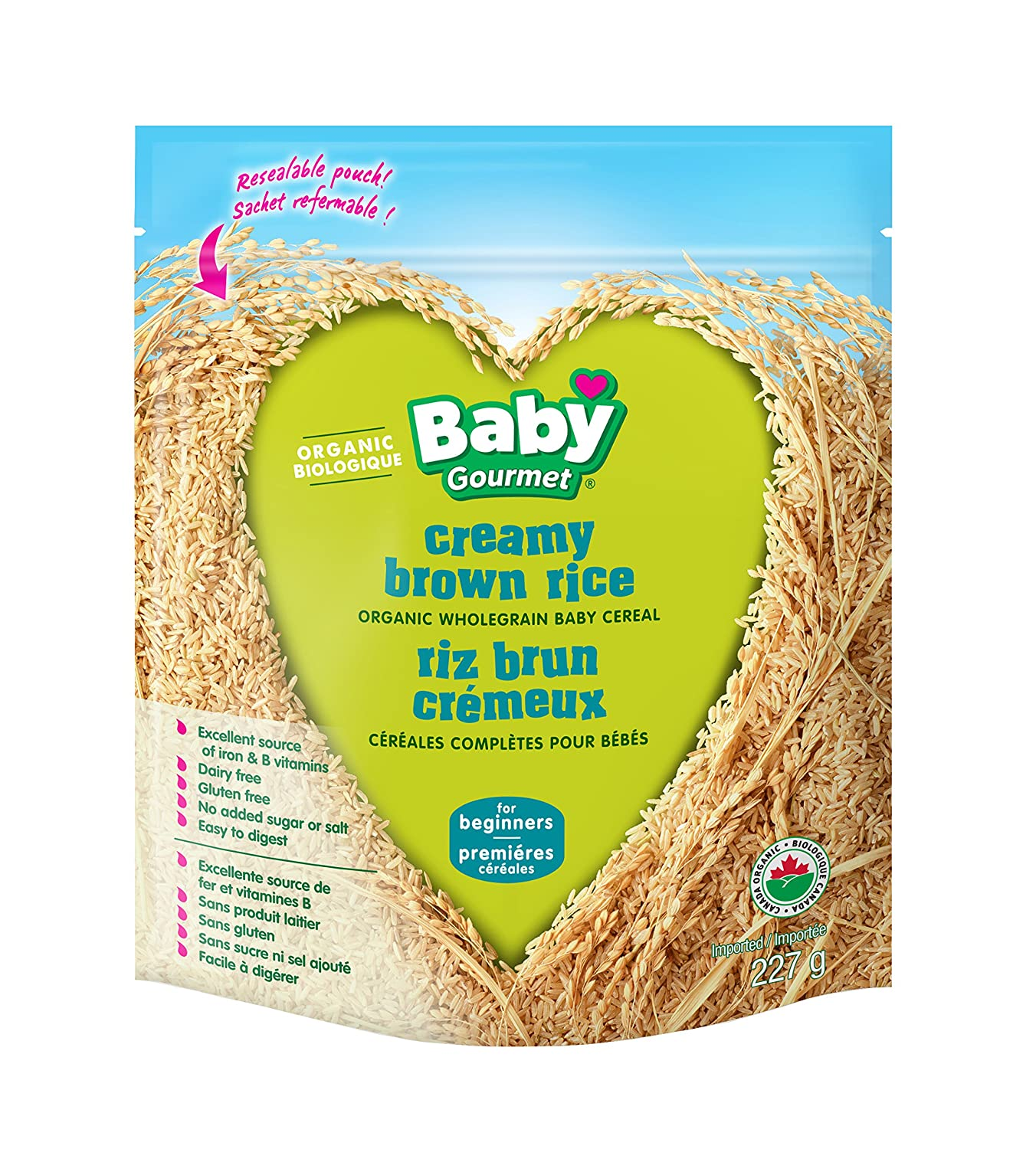Baby Gourmet Brown Rice Cereal, 6-Pack Baby Gourmet Foods Inc BRRCCERCSCD0006