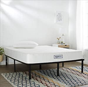 AmazonBasics Pocket Coil Mattress - Features High-Density Foam Layer, Reversible, Easy Set-Up, CertiPUR-US certified, 8-Inch, Queen