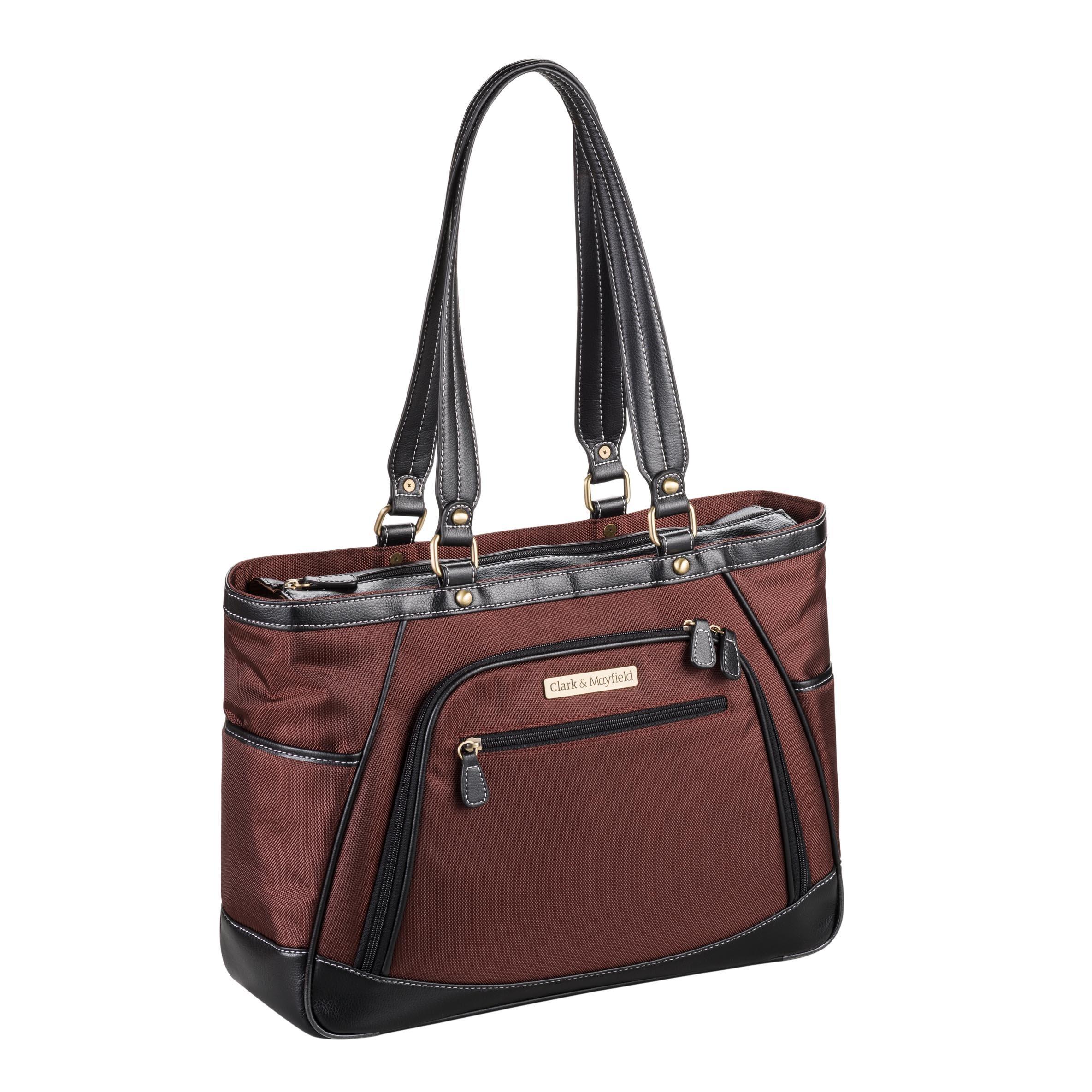 Clark & Mayfield Sellwood Metro Laptop Handbag 15.6'' (Bordeaux Brown)