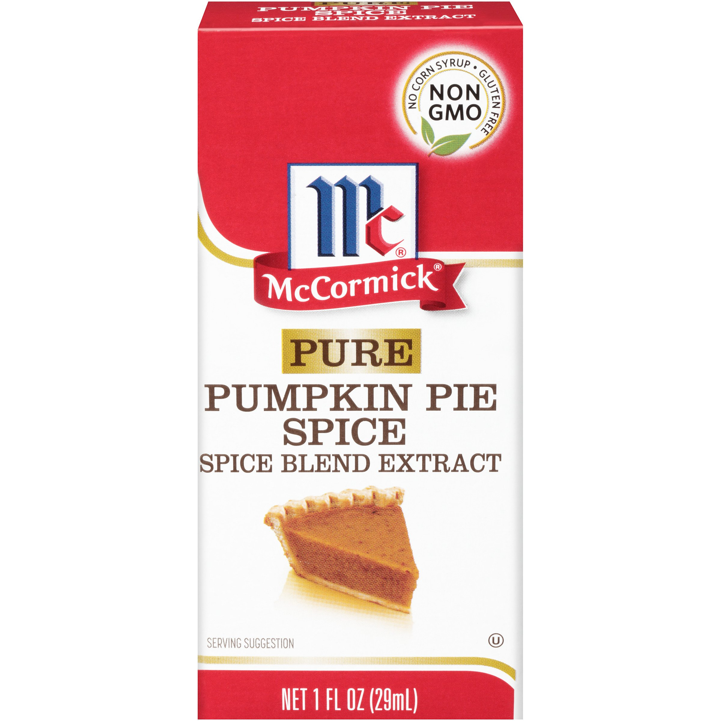 McCormick Pure PumpkinPie Spice Blend Extract, Features a Premium Blend of Cinnamon,Ginger, Nutmeg and Allspice, All the Flavors of Pumpkin Pie Spice in an Easy, No-mess Extract, Gluten Free, 1 fl oz