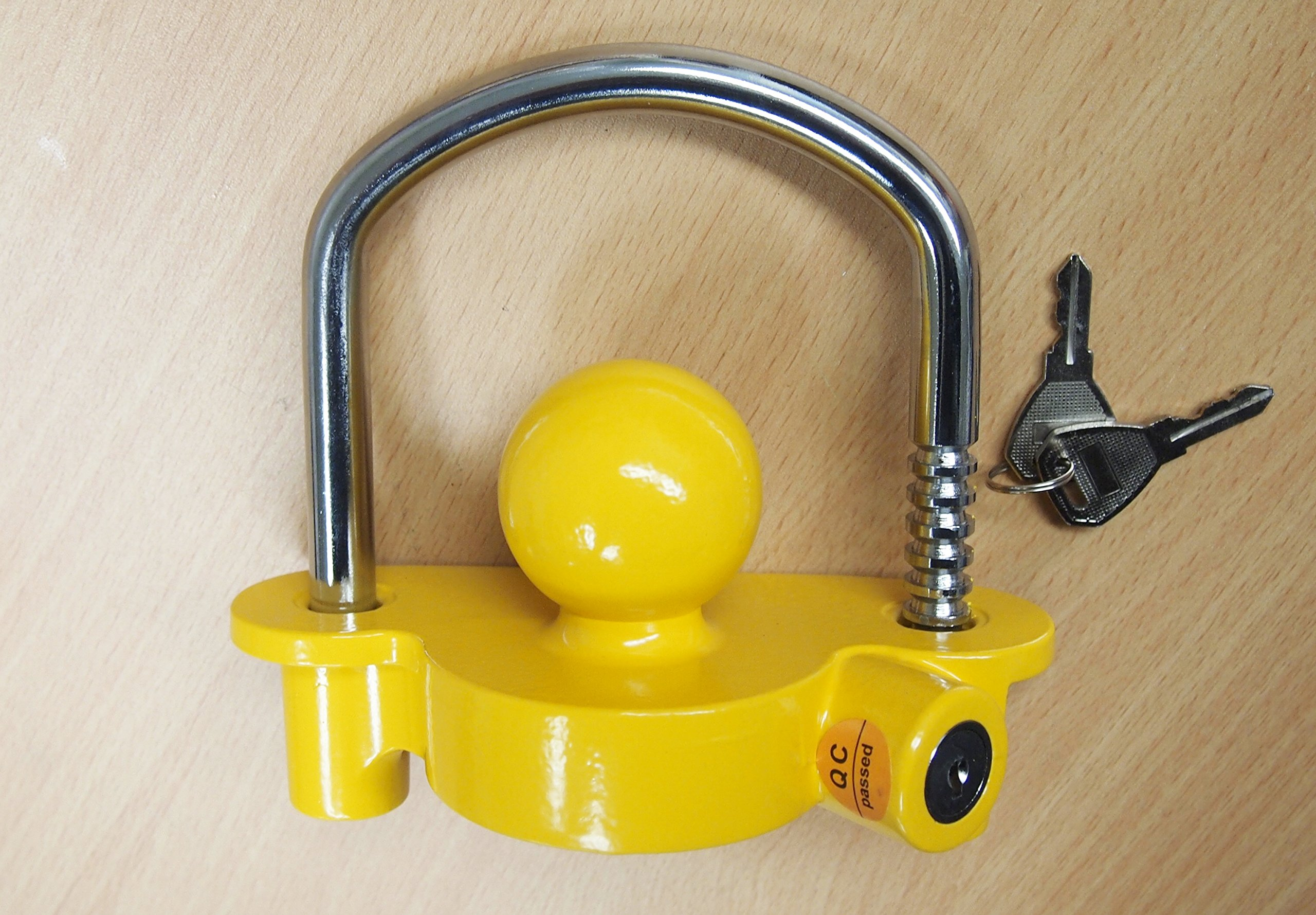 Universal Heavy Duty Tow Trailer Coupler Lock fits 1-7/8'', 2'', and 2-5/16''