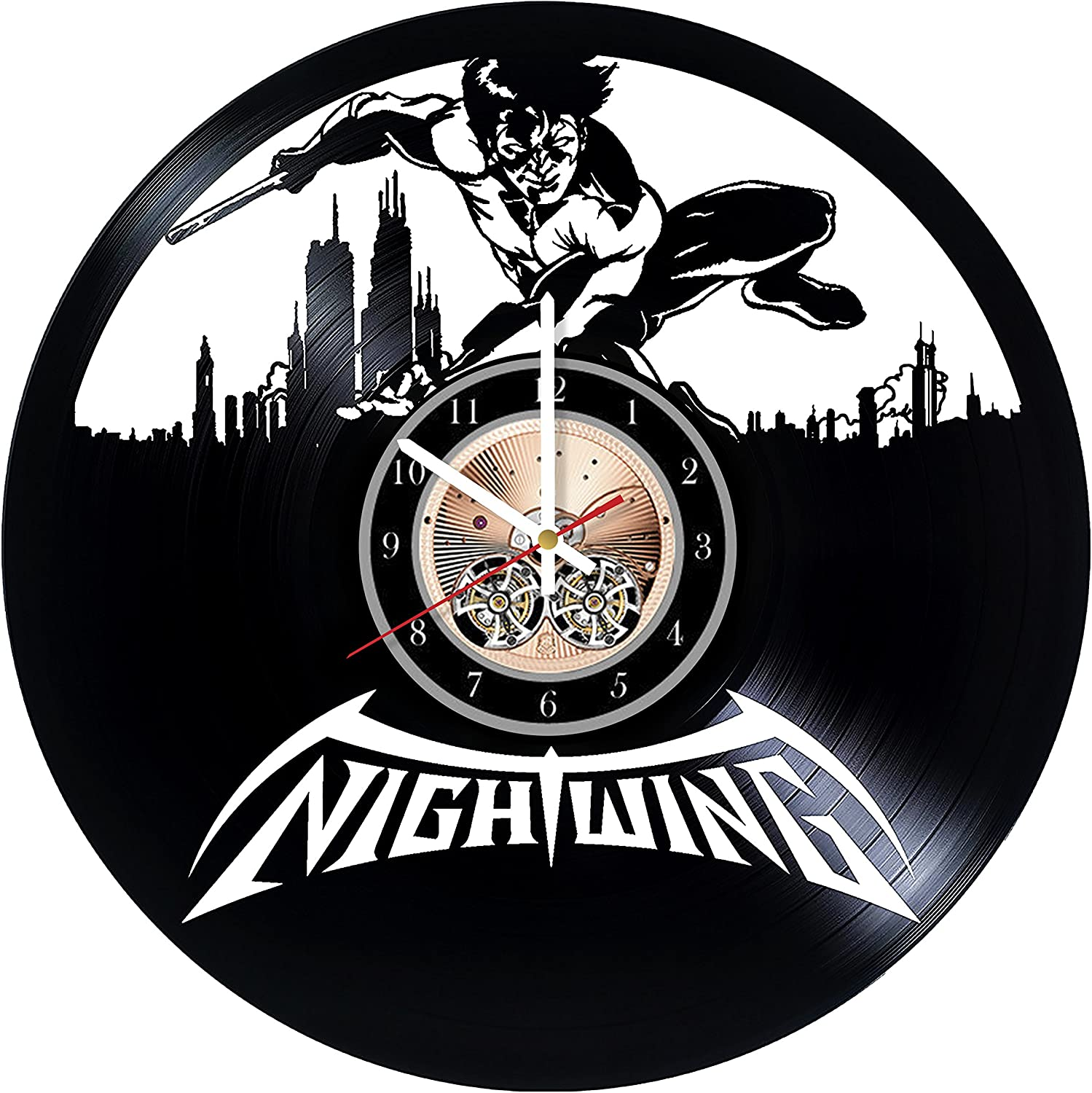 Amazon Com Nightwing American Comic Books Design Art Vinyl Record Wall Clock 12 Really The Most Original Gift For Him And Her Perfect Element Of The Interior And Amazing Home Decor