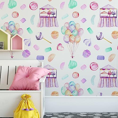 Amazoncom Candy Shop Wallpaper Pattern Handmade