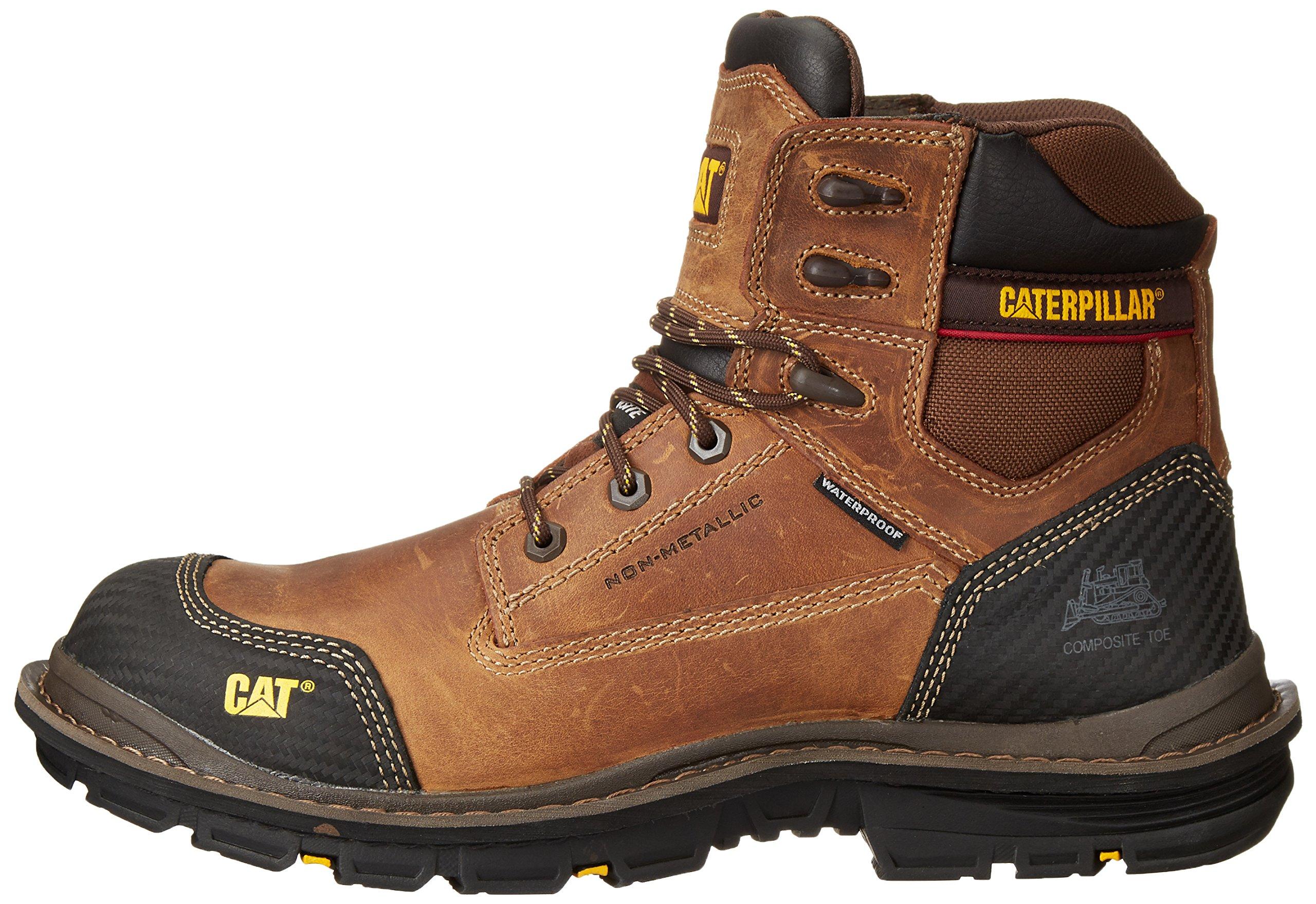 Caterpillar Men's Fabricate 6 Inch Tough Waterproof Comp Toe Work Boot, Brown, 14 M US by Caterpillar (Image #5)