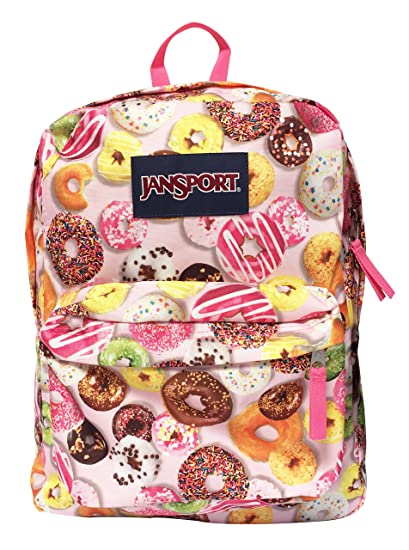 03191d72b335 Image Unavailable. Image not available for. Color  Classic Jansport  Superbreak Backpack (Multi Donuts ...