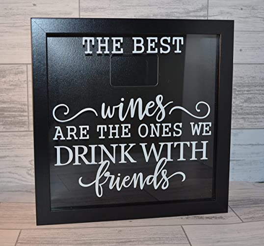 Wine Lovers Gift Wine Cork Holder Box Frame Shadow Box Frame