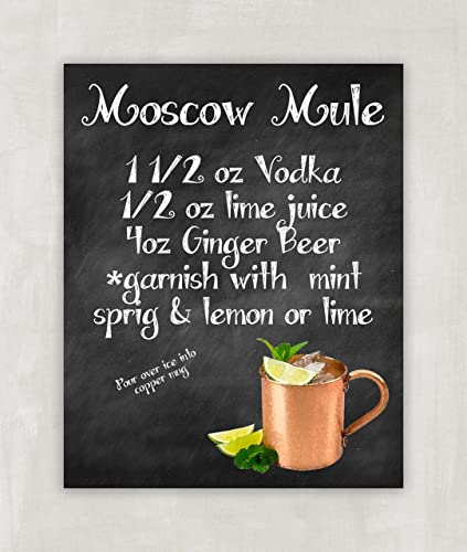 photograph about Moscow Mule Recipe Printable known as Moscow Mule Recipe Artwork Print 8x10 ((unframed))