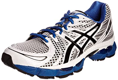 a42f655fc4 ASICS Men's Gel Nimbus 13 Trainer, White/Royal/Black, 6.5 UK: Amazon ...