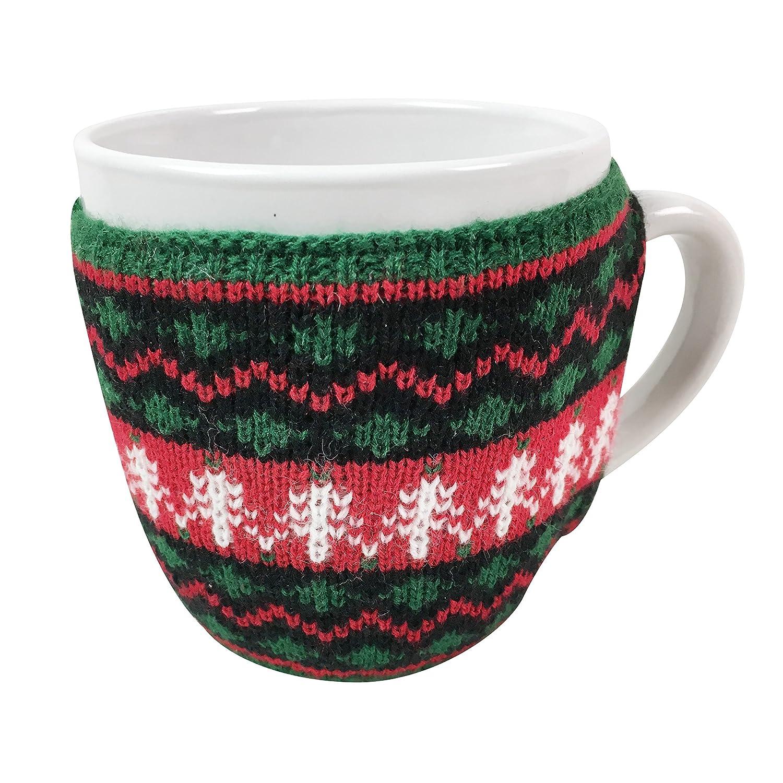 Extra Large Ugly Christmas Sweater Coffee Mug Green