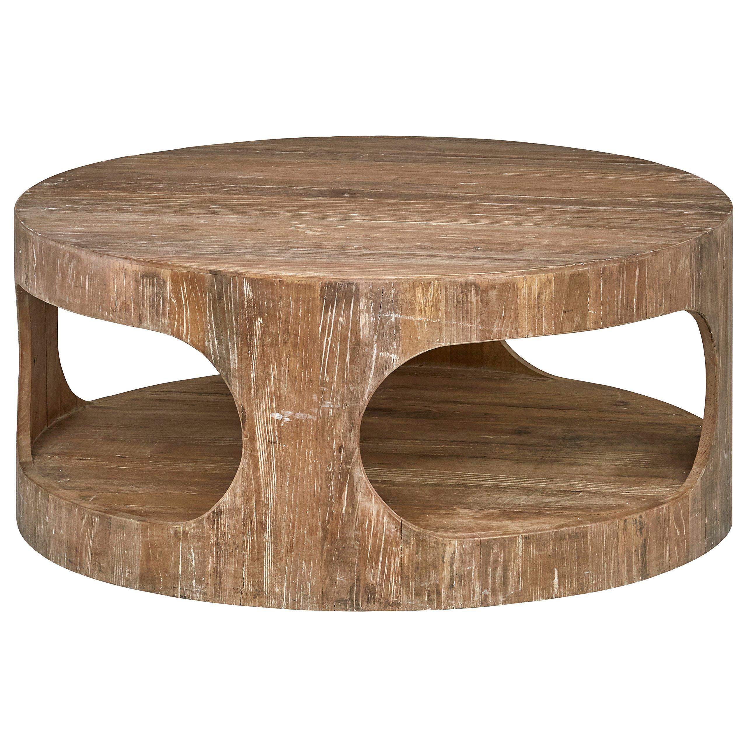 Stone & Beam Miramar Elm Wood Cutout Coffee Table, 39.4''D, Natural by Stone & Beam