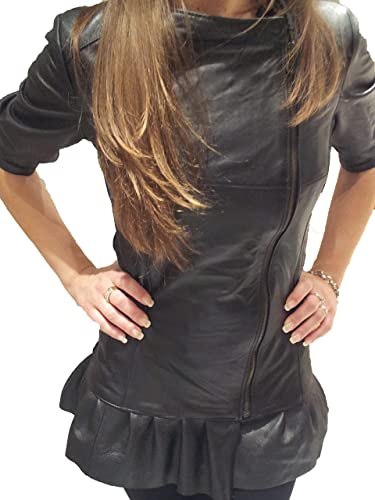 Creazioniinpelle chaqueta de cuero auténtico 100% muy suave de mujeres hecho en italia crd7