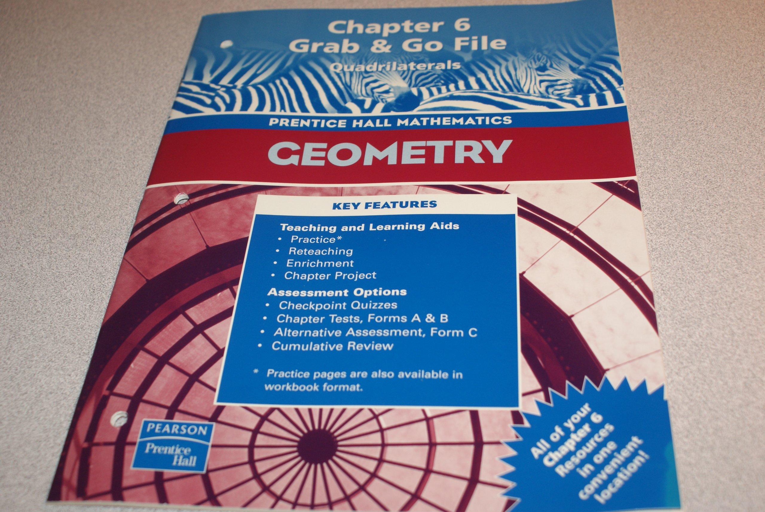 Read Online Geometry, Chapter 6 Grab & Go File: Quadrilaterals (Prentice Hall Mathematics) PDF