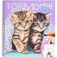 Depesche 11133 TOPModel - kleurboek Create your Kitty, schilder- en stickerboek met 92 pagina's vol schattige…