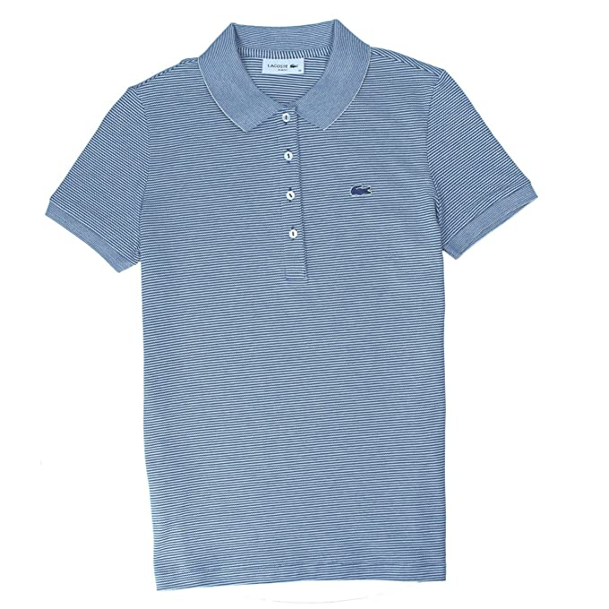 4e3353c50 Lacoste Polo Shirt PF3041-BLUE Lug: Amazon.co.uk: Clothing