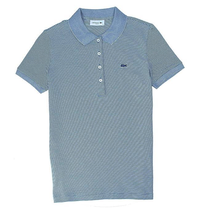 09288f99c Lacoste Polo Shirt PF3041-BLUE Lug  Amazon.co.uk  Clothing