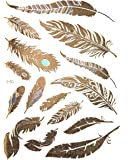 GOLD Tattoo Flash Tattoos Feder Goldfedern Tattoo Einmaltattoos YS-51 - LK Trend&Style