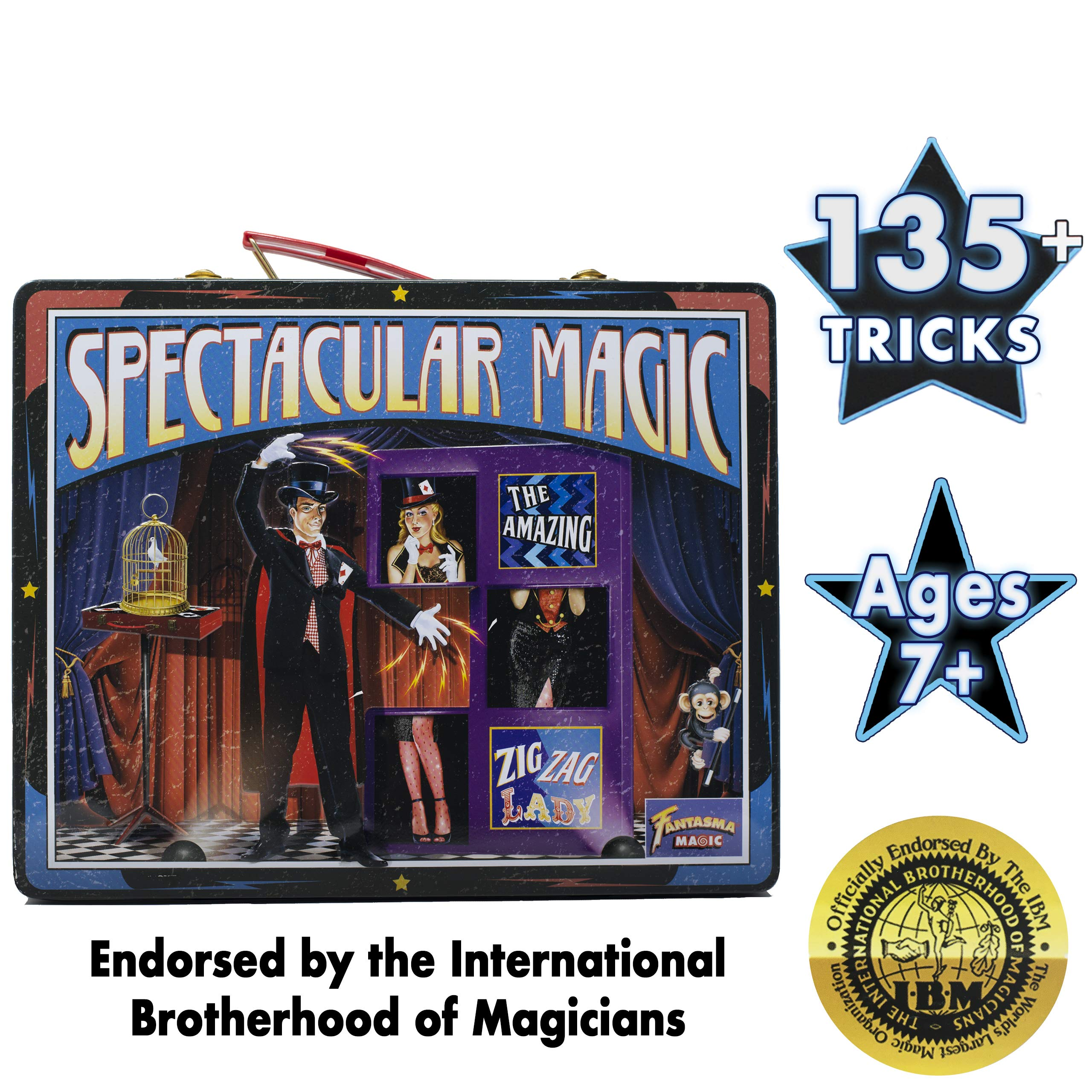 Fantasma Spectacular Magic Box Set for Kids - Magic Kit and Card Trick - Learn 135 Magic Tricks - Great for Boys and Girls 7 Years and Older        by Fantasma (Image #5)