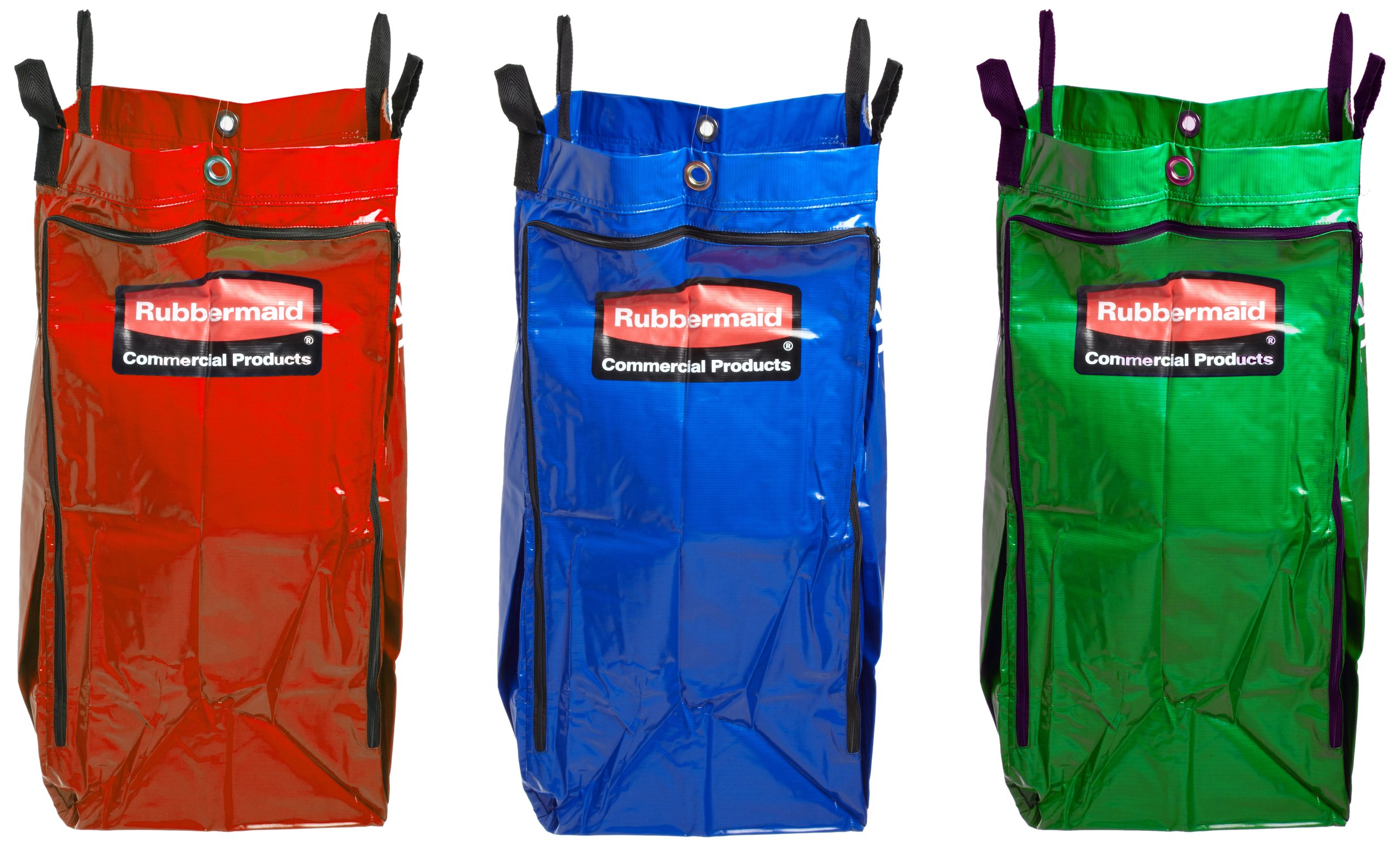 Rubbermaid 9T93-01 34 gallon Capacity, 33'' Length x 10-1/2'' Width x 17-1/2'' Height, 3 Pieces Recycling Bag with Universal Recycling Symbol Set by Rubbermaid Commercial Products