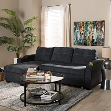 Amazon Com Baxton Studio Modern And Contemporary Sectional Sofa