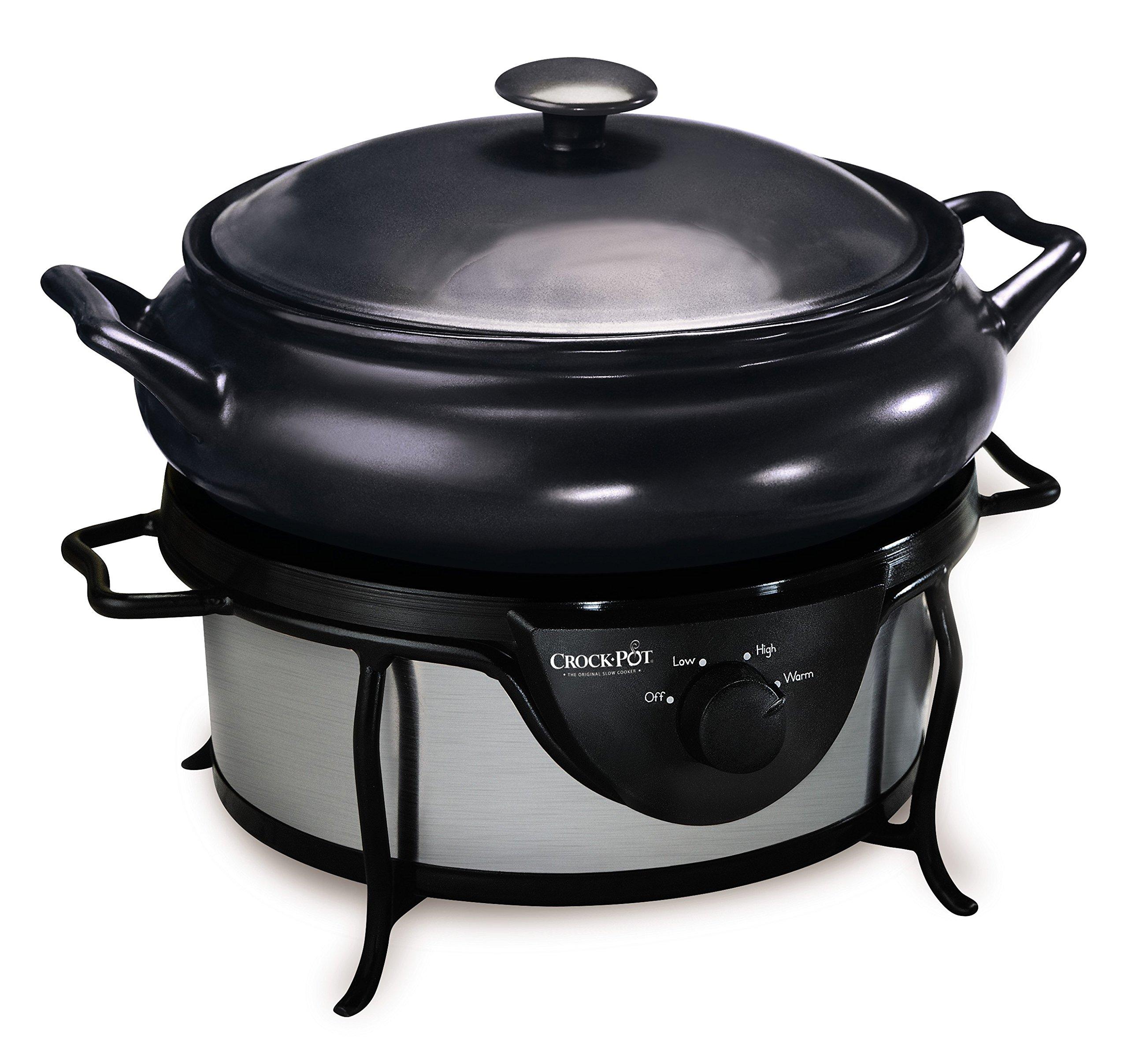 Crock-Pot - Olla eléctrica de cocción lenta, capacidad de 4,7 l