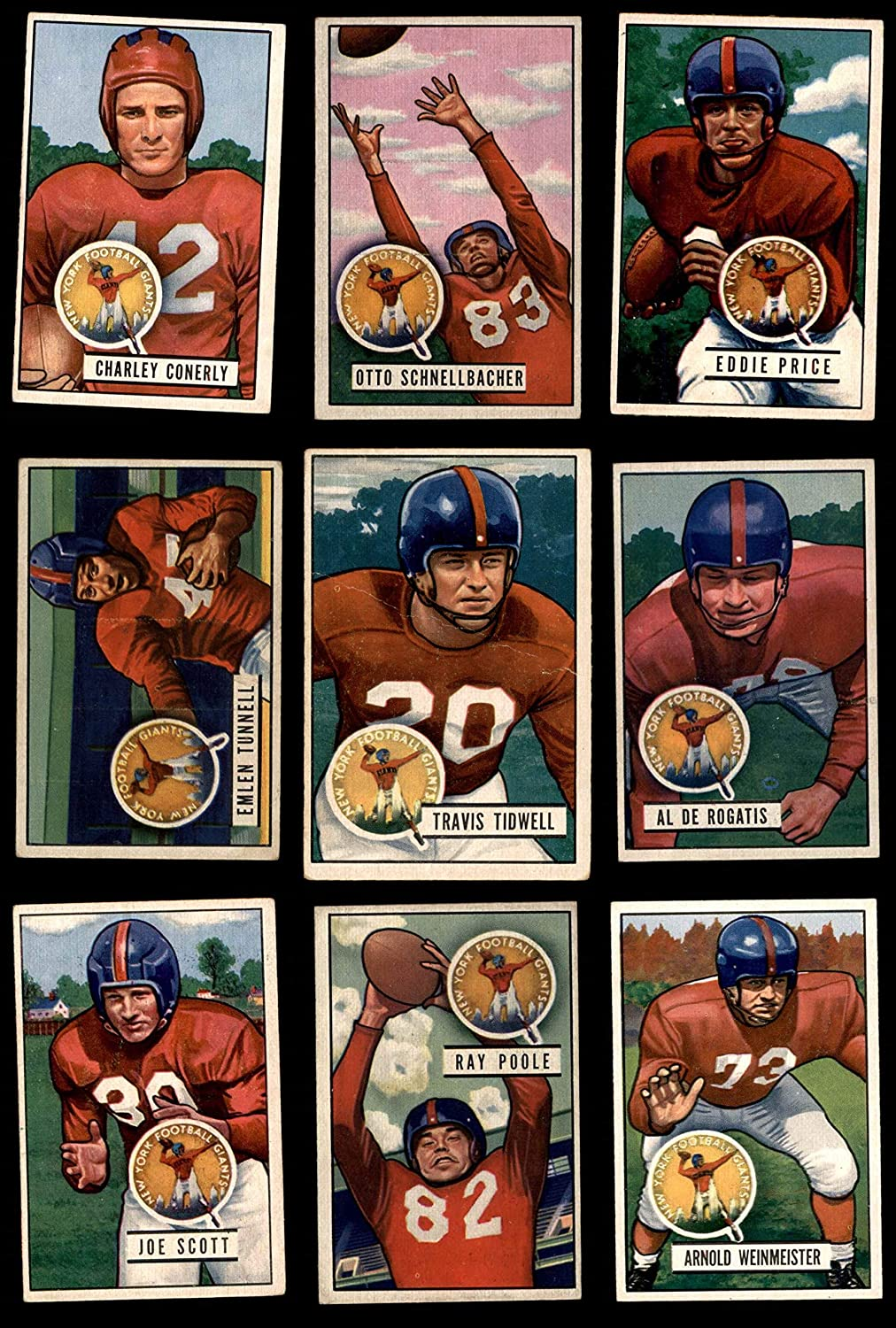 1951 Bowman New York Giants Team Set New York Giants-FB (Baseball Set) Dean's Cards 5.5 - EX+ Giants-FB 9118eoCoyILSL1500_