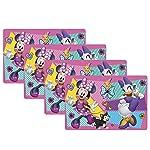 Zak Designs Mickey Manteles Individuales para niños, Juego de 4 Piezas, Minnie Mouse