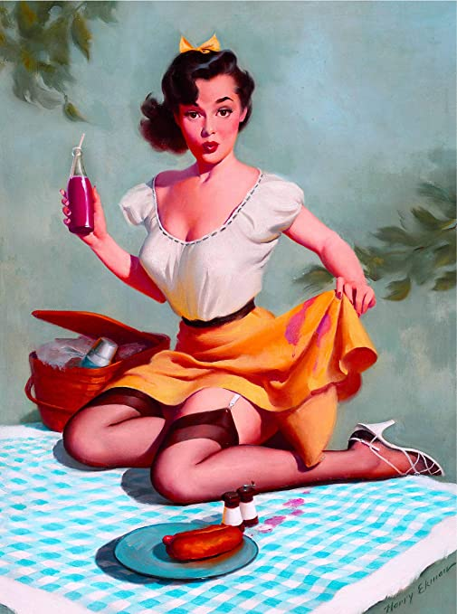1940s Pin-Up Sugar /& Spice Towel Girl  Picture Poster Print Vintage Art Pin Up