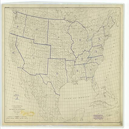 18 x 24 canvas 1893 new jersey old nautical map drawing chart of base map of