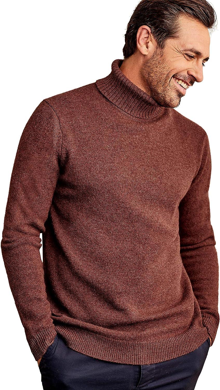 Woolovers Mens Lambswool Turtle Neck Sweater Cozy Comfort 2XL Brandy Apple