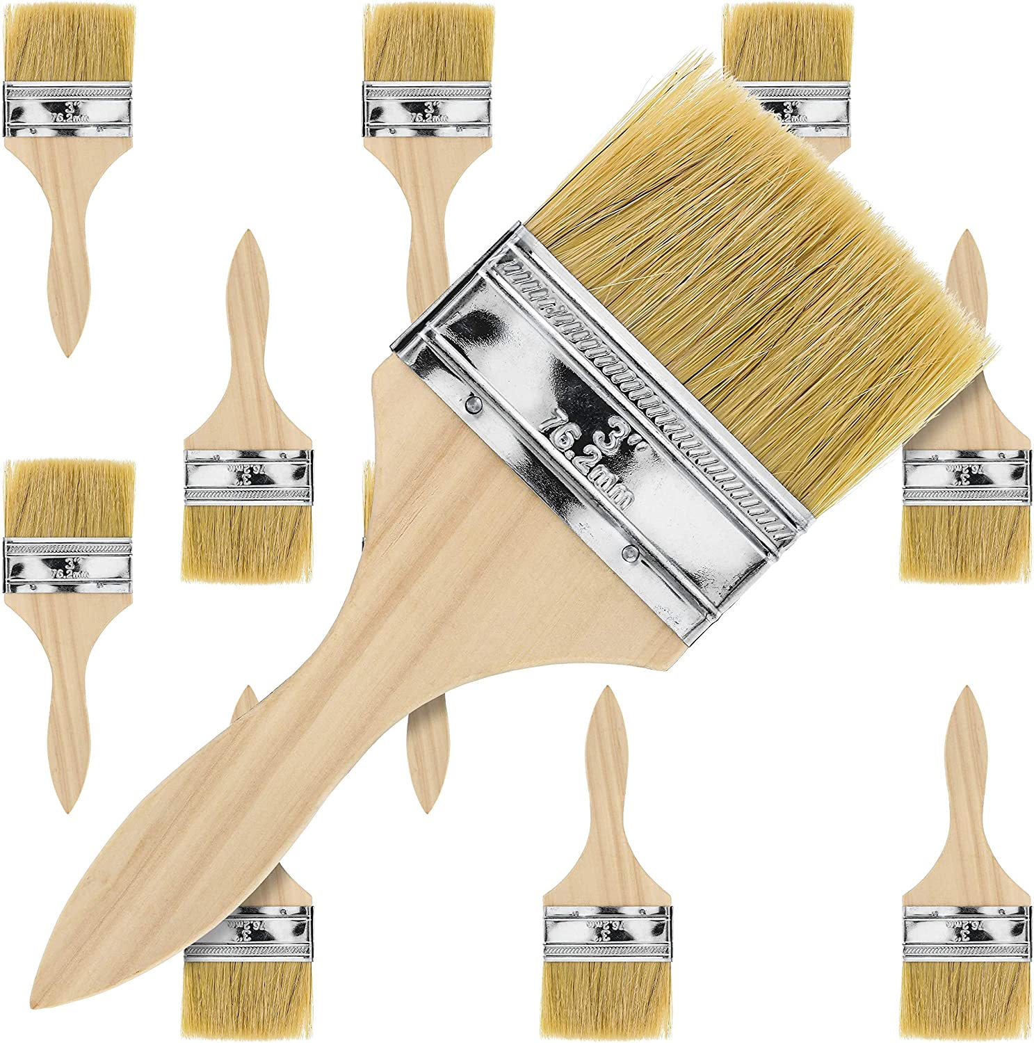 """US Art Supply 2/"""" Chip Brushes Paint Glue Adhesives Touchups 2 Inch Lot of 24"""