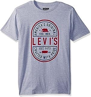 Levi's® Crew Neck T Shirt Men's White Housemark Logo Regular Fit 17783-0140