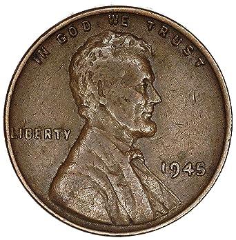 1945 P Lamination Error Lincoln Wheat Cent Very Good at Amazon's
