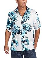 Cubavera Men's Big And Tall Short Sleeve Leaf Print Shirt