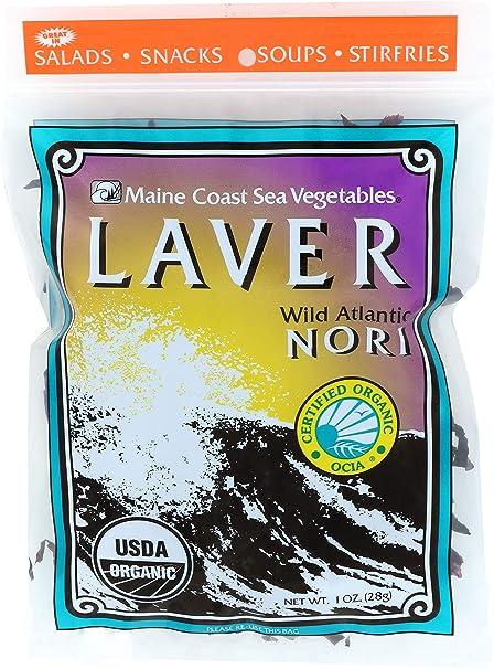 Amazon.com: Maine Coast Sea verduras orgánico Laver Wild ...