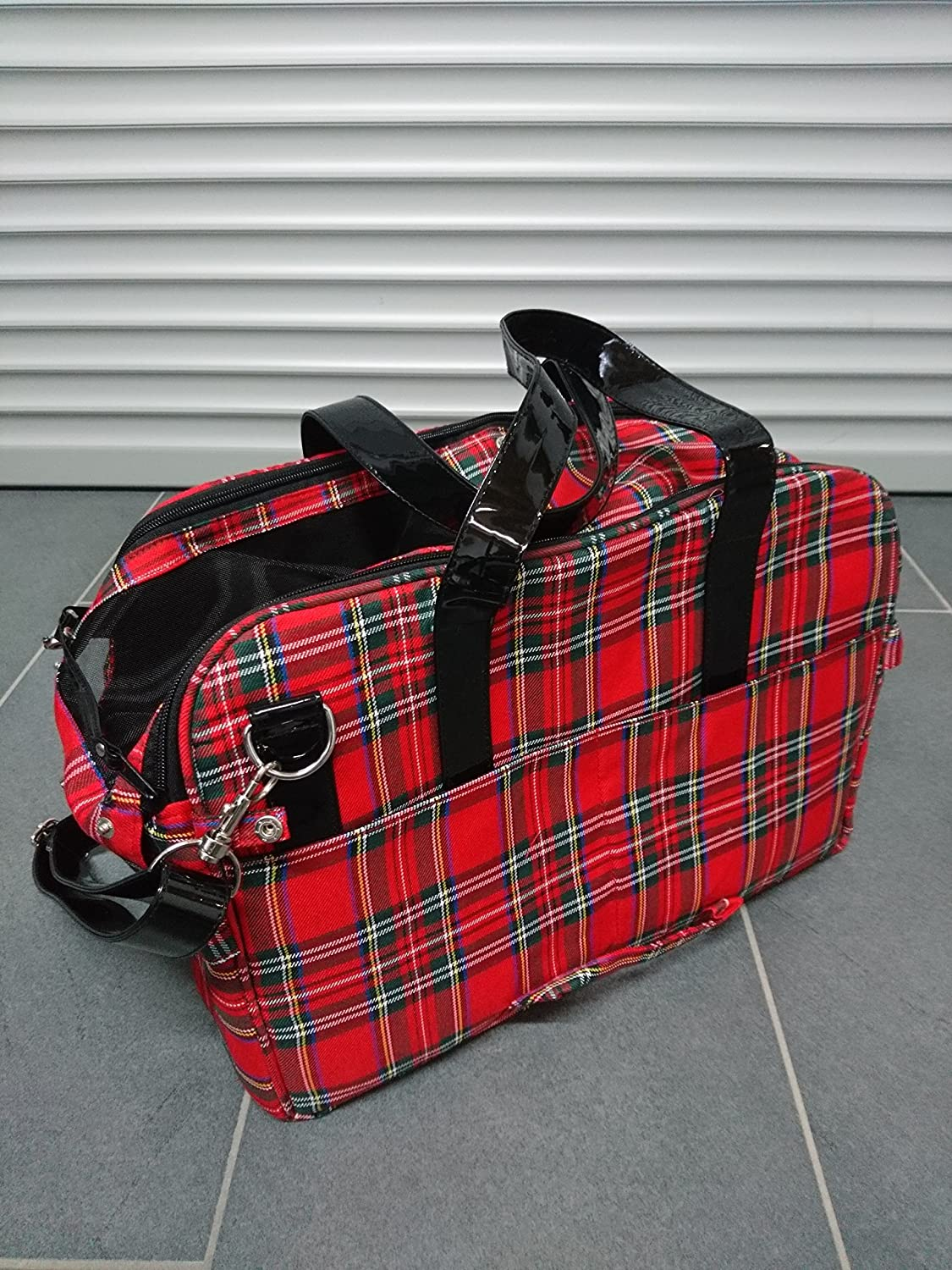 Karlie 31986 Scotland Carry Case Red Chequered 43 x 24 x 29 cm