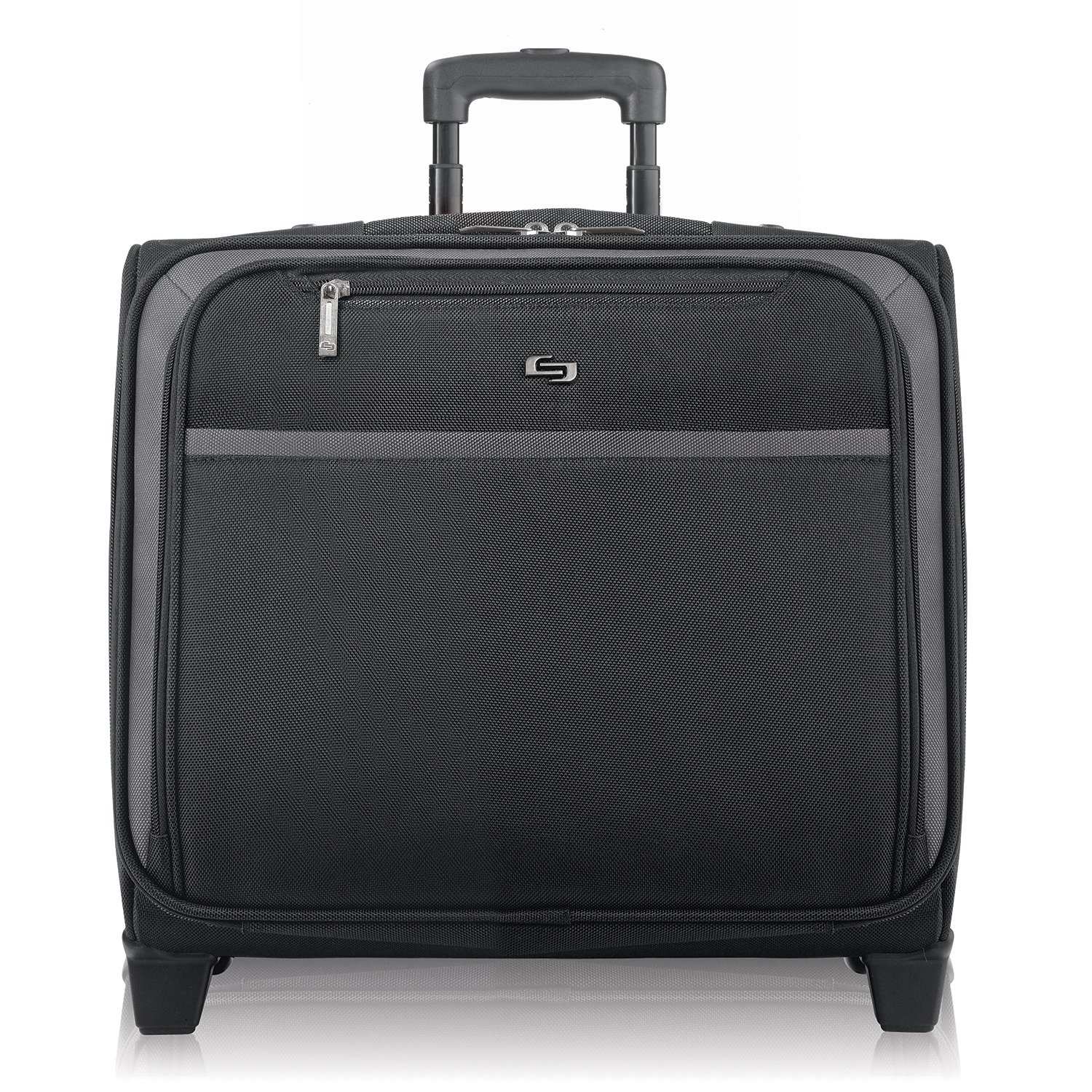 Solo Dakota 16 Inch Rolling Laptop Case with Overnighter Section, Black CLA901-4