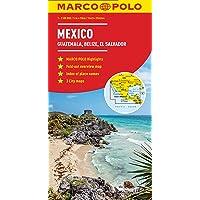 Mexico, Guatemala, Belize, El Salvador Marco Polo Map