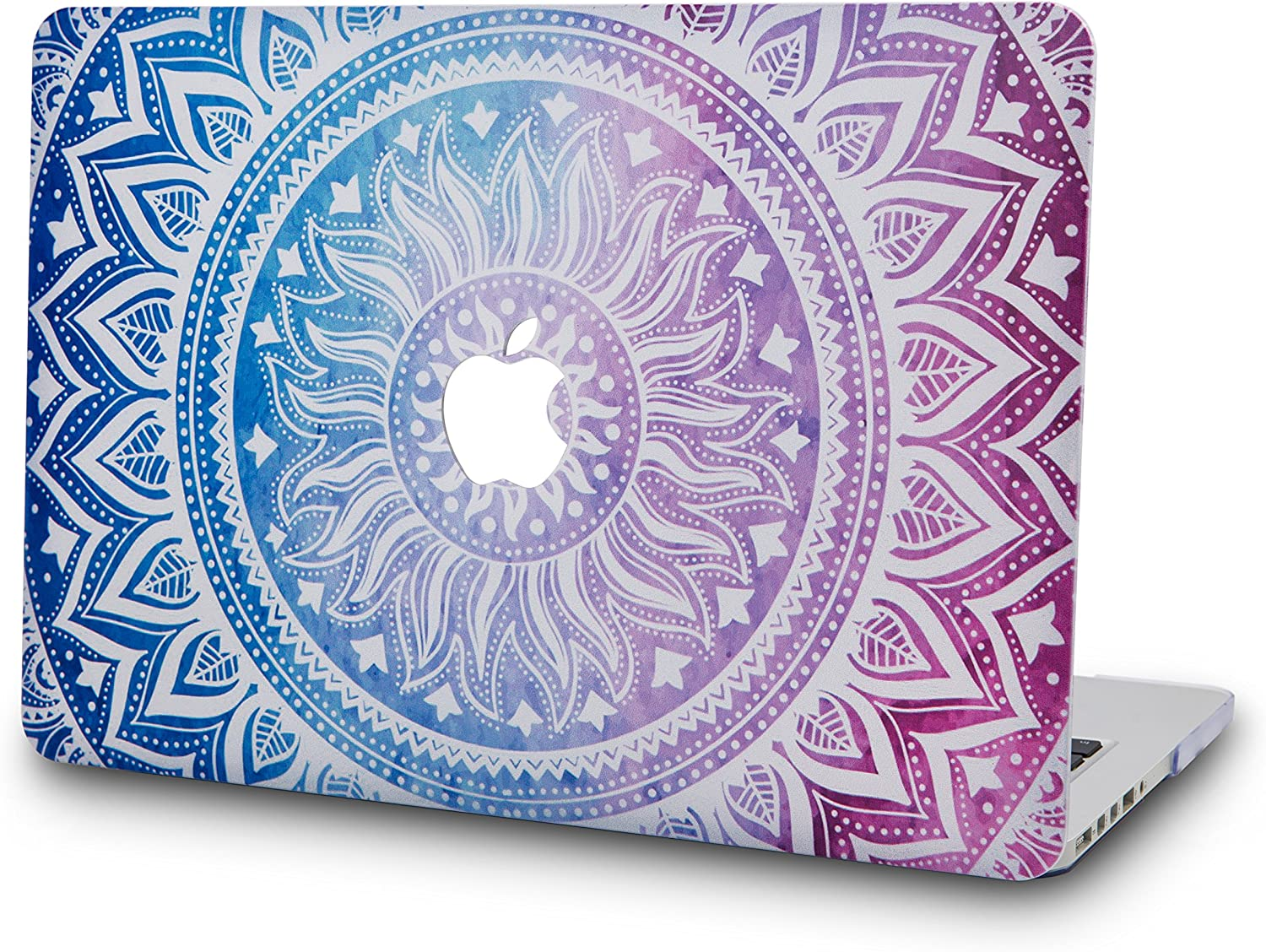 """KECC Laptop Case for MacBook Air 13"""" Retina (2020/2019/2018, Touch ID) Plastic Case Hard Shell Cover A2179/A1932 (Purple Medallion)"""