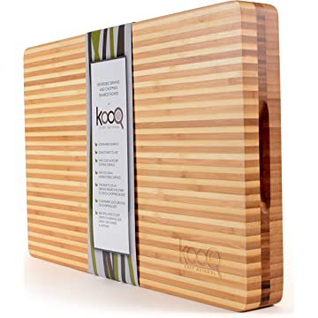 High-End Reversible Cutting Board - The Most SOPHISTICATED Serving and Chopping Block on the market! Cutting Board on one side for cutting and chopping. Butcher's Block and Cheese Board all in one!