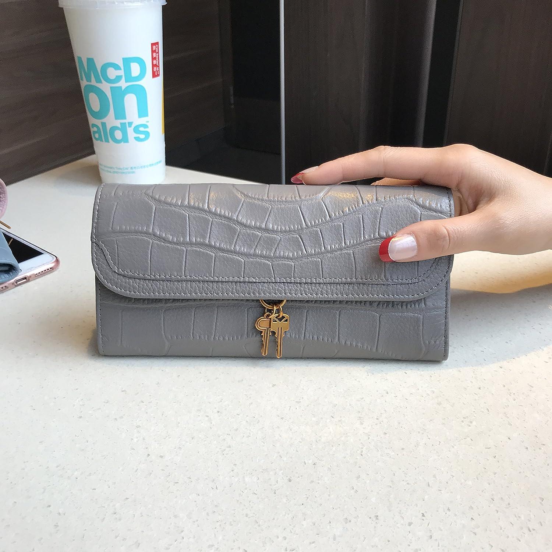 Long pearl gris  GUNAINDMX Porte Monnaie Portefeuille Court Féminin Pliage Les Les dames Portefeuille 30 pour Cent Clip