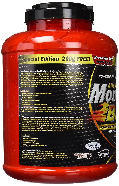 Amix Monster Beef Protein 2,2 kg Frutas de Bosque: Amazon.es: Salud y cuidado personal
