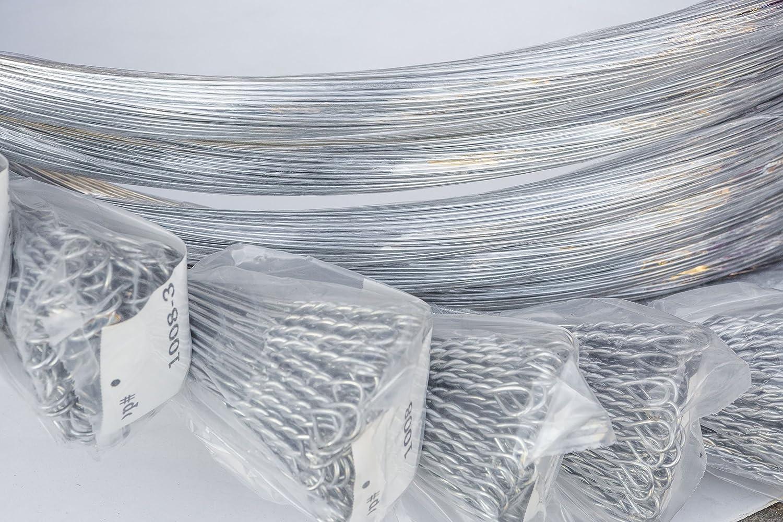 Amazon.com: Baler Wire-14 gauge 14ft Galvanized Bale Ties-50 Count ...