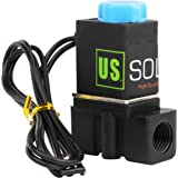 """-NEW- Solenoid Valve 1/4"""" Normally Closed (N.C.) 12VDC Nylon (NEW Improved Crack-resistant Polymer) Blue Cap by U.S. Solid"""