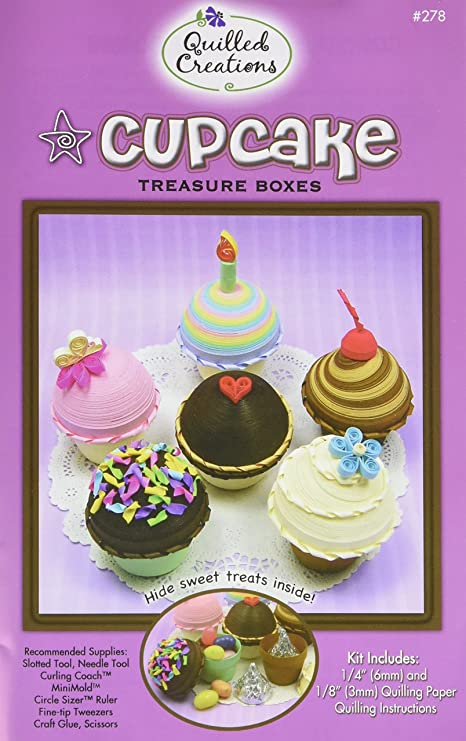 Quilled Creations Paper Quilling Kit Cupcake Treasure Boxes Amazon