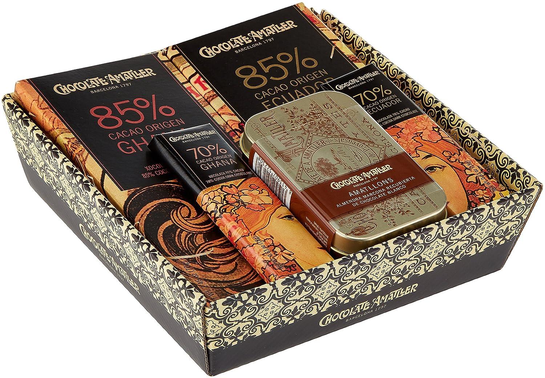 Chocolate Amatller - Chocolates Variados en Cesta Regalo Orígenes - 211 gr.: Amazon.es: Alimentación y bebidas